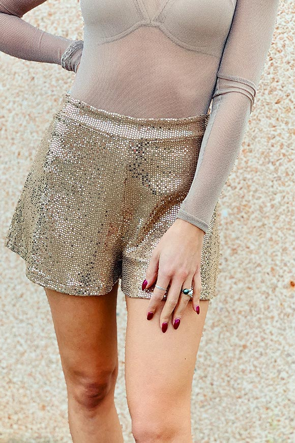 Kontatto - Naked shorts in flat sequins