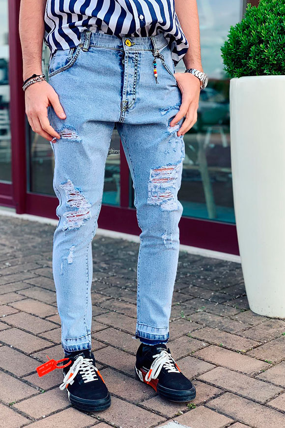 Berna - Ripped light jeans
