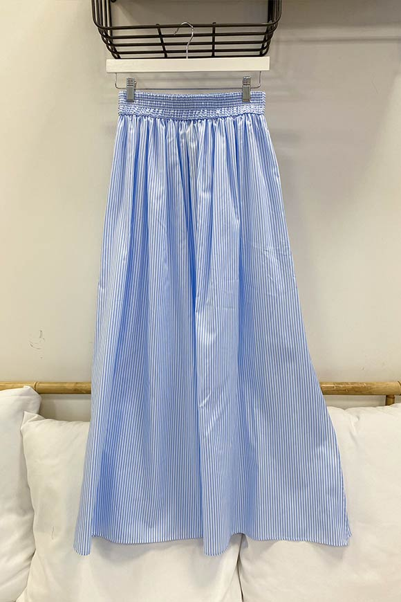 Vicolo - Sky blue poles circle skirt with slits
