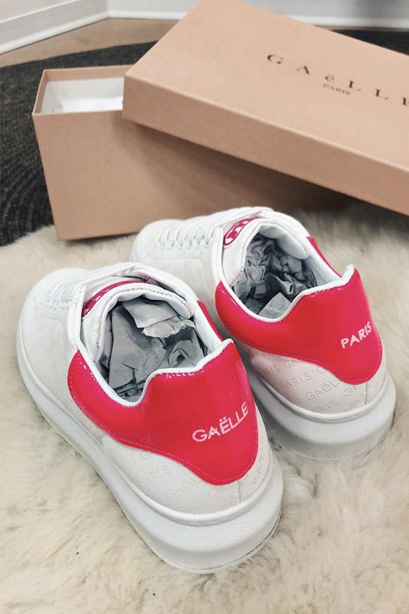 Gaelle Scarpe platform tallone rosa con loghi - Calibro Shop 673488b77ea