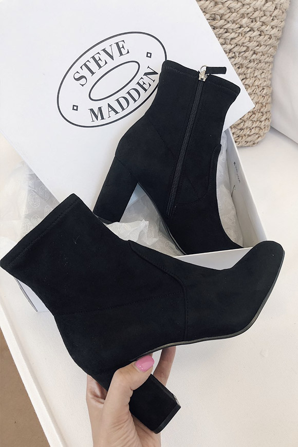 12ffd8f93ef Steve Madden Avenue Black boots in suede - Calibro Shop