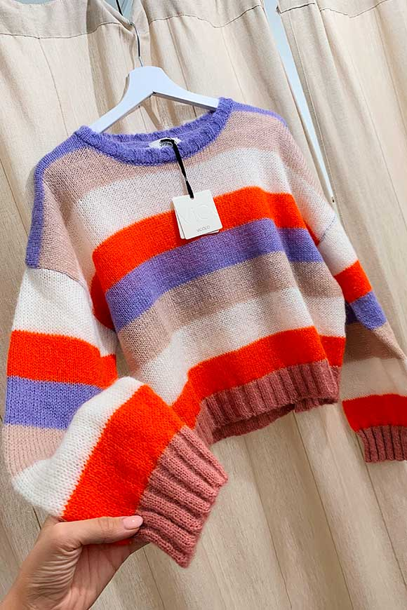 Striped sweater in soft colors