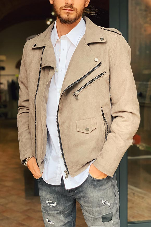 Gianni Lupo - Mud suede nail jacket
