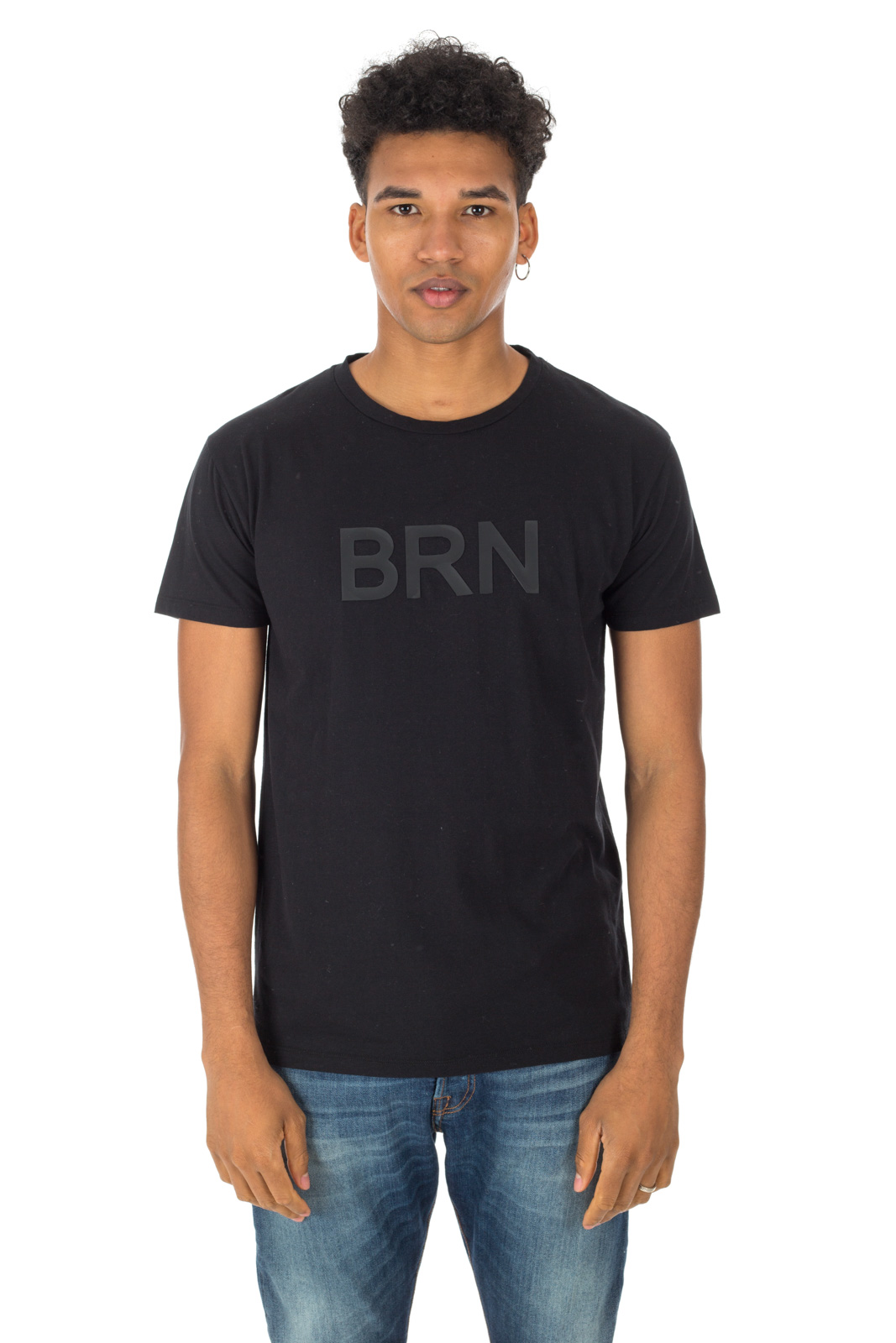 Berna - Black t-shirt with rubber logo