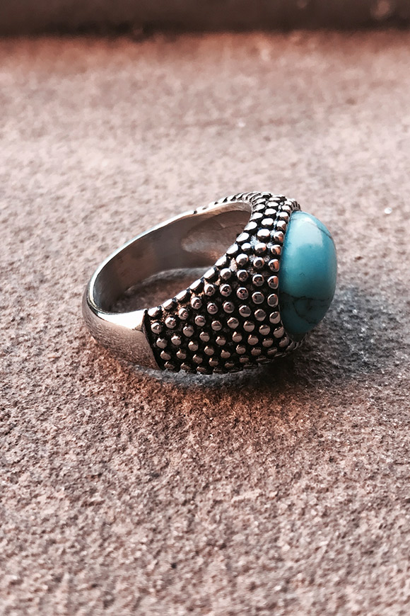 Calibro Shop - Round ring stone turquoise