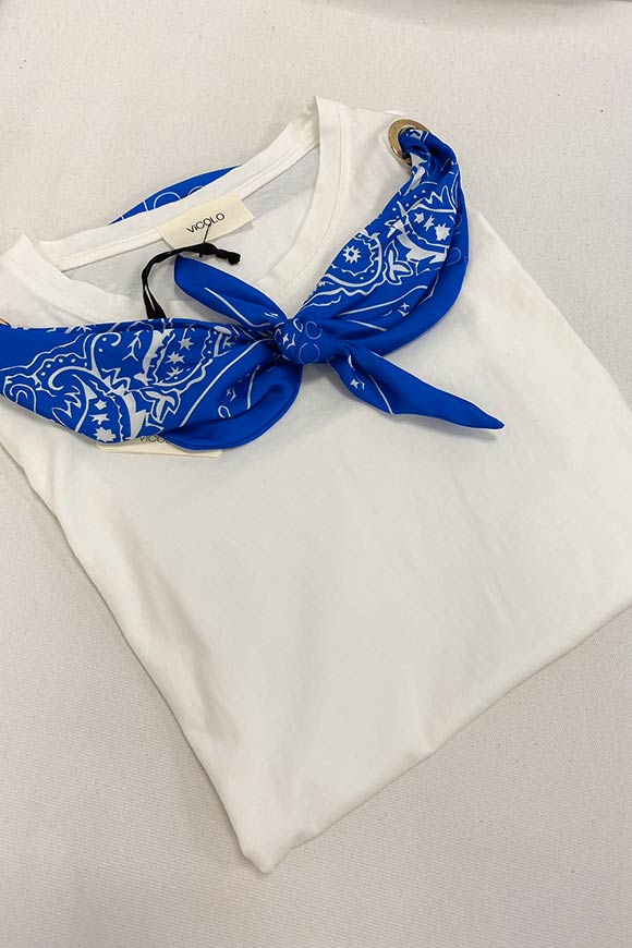 Vicolo - T shirt with knot scarf n.17