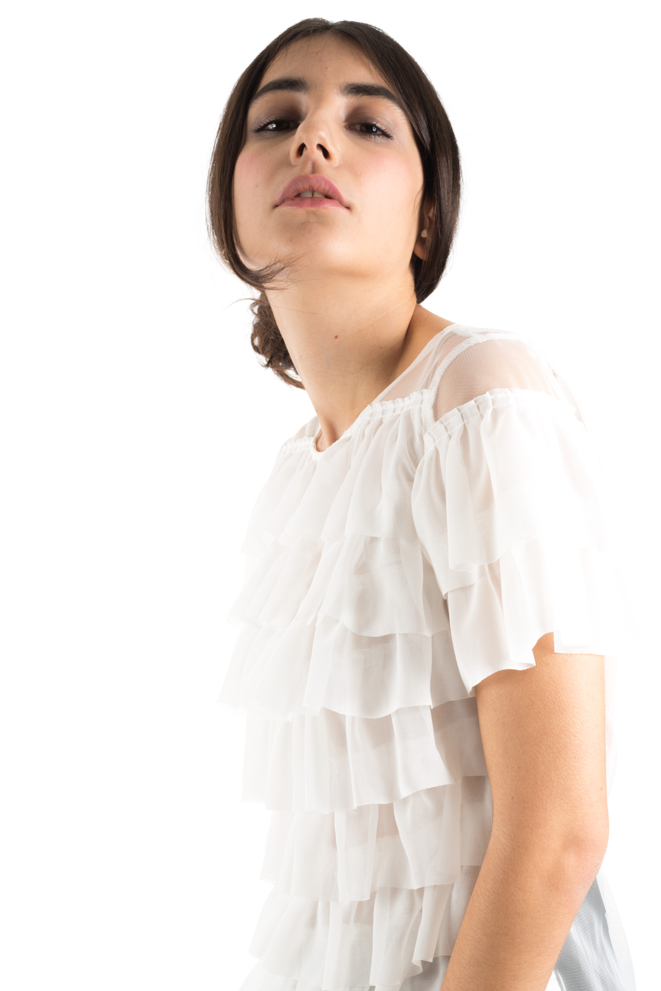 Glamorous - See-through t-shirt with frills