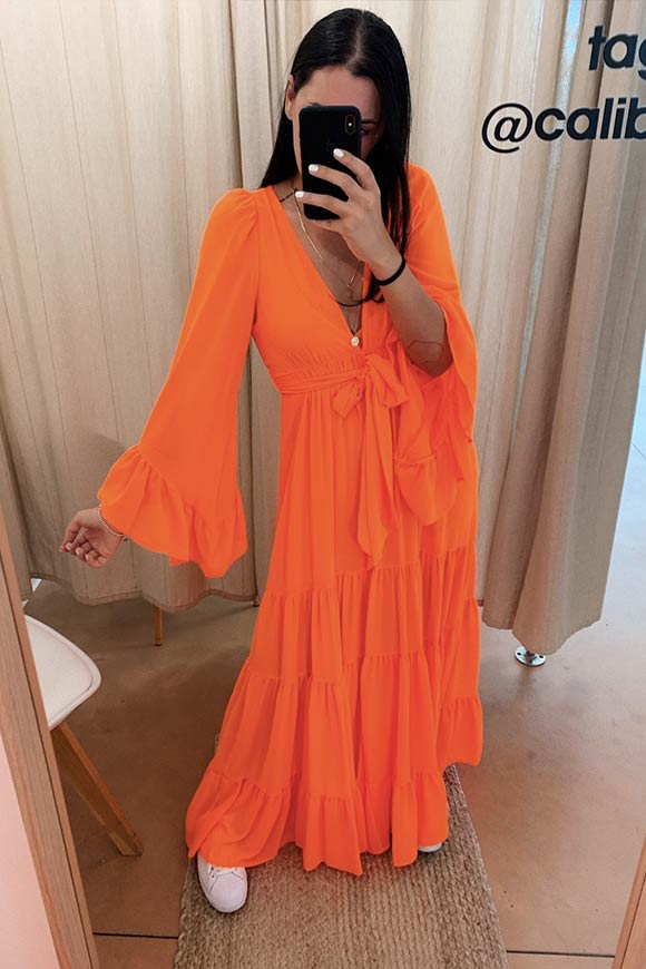 Aniye By - Orange Selly long dress