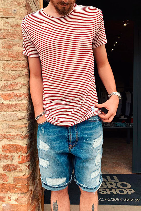 Berna - Red and white striped T-shirt