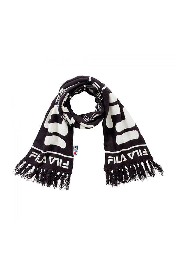 Fila - Black and white scarf with logo