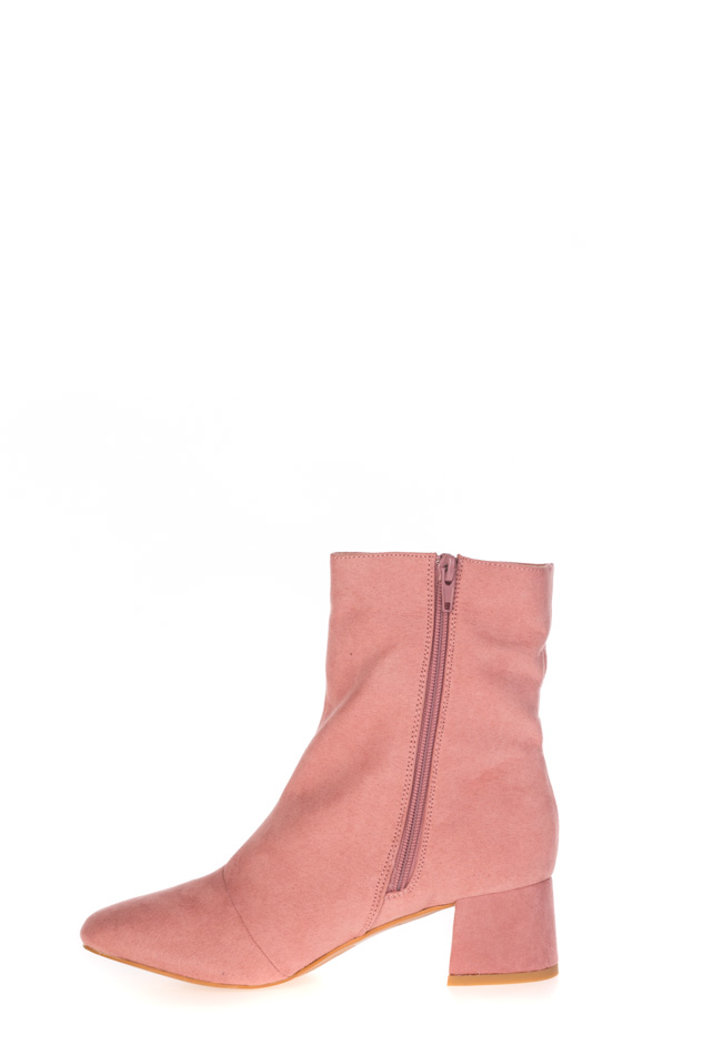Public Desire - Pink ankle boots with Aruba ring