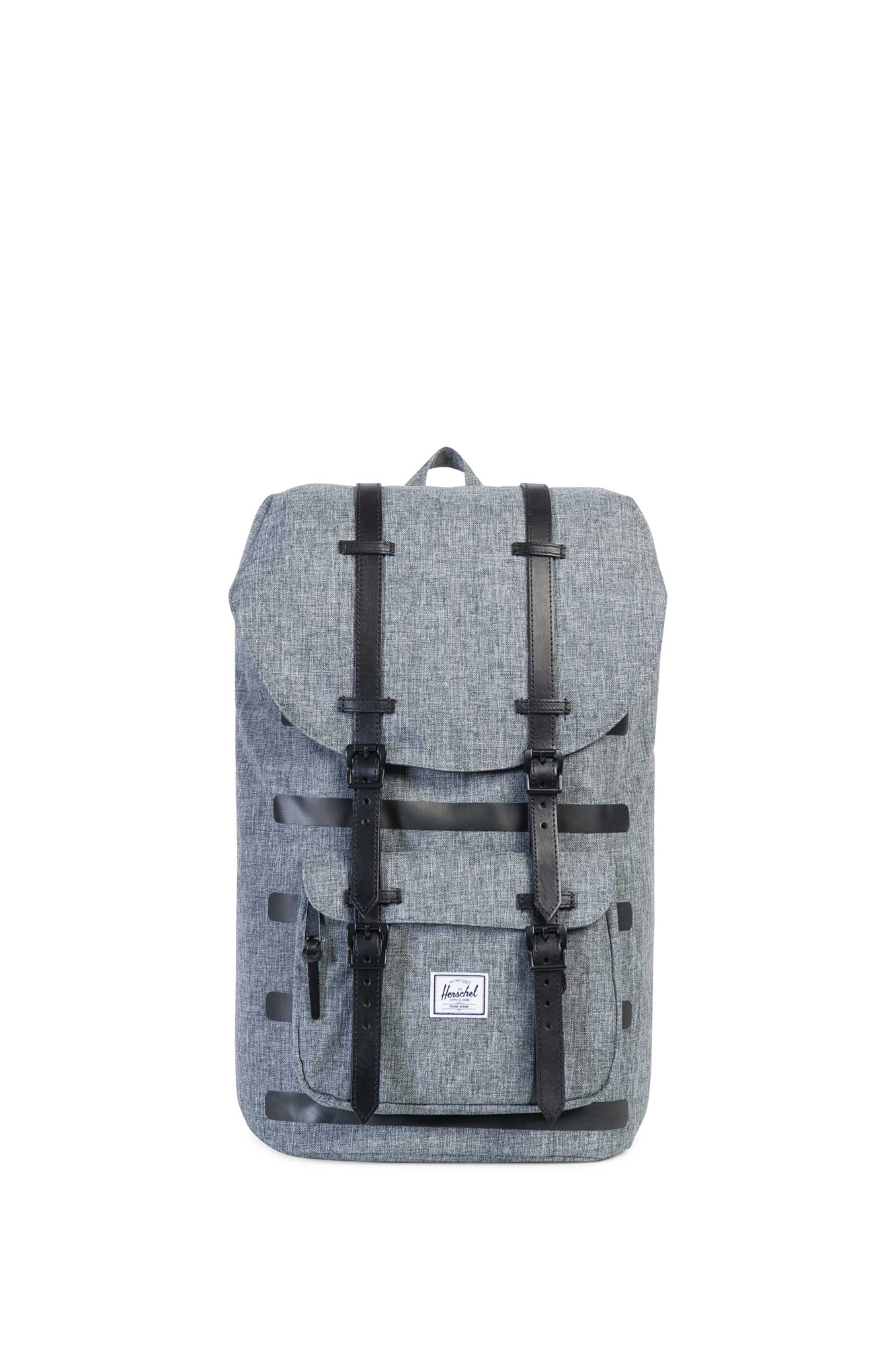 Herschel - Little America Offset Raven crosshatch stripe