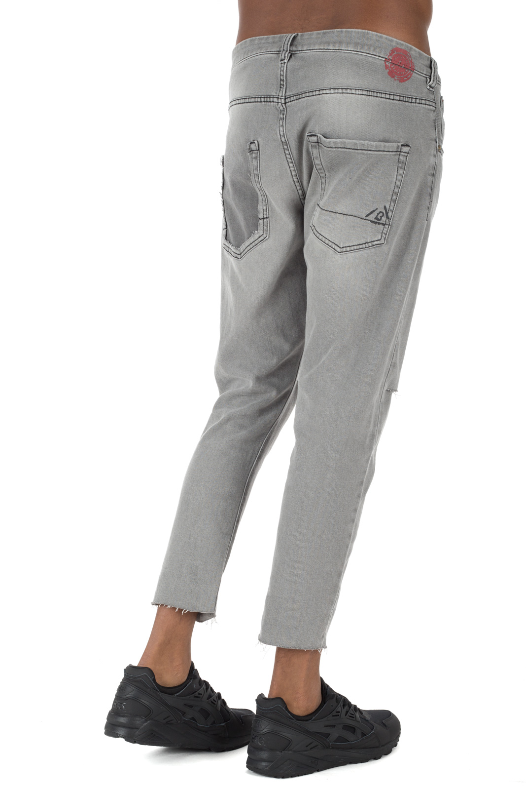 Berna - Skinny Jeans with Gray Cuts