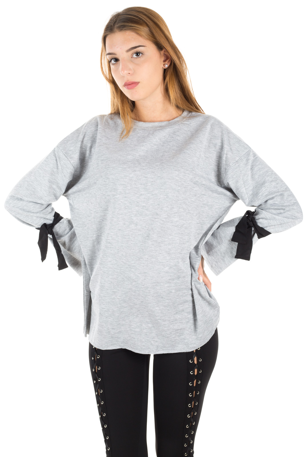 Glamorous - Sweater with flakes on the arms