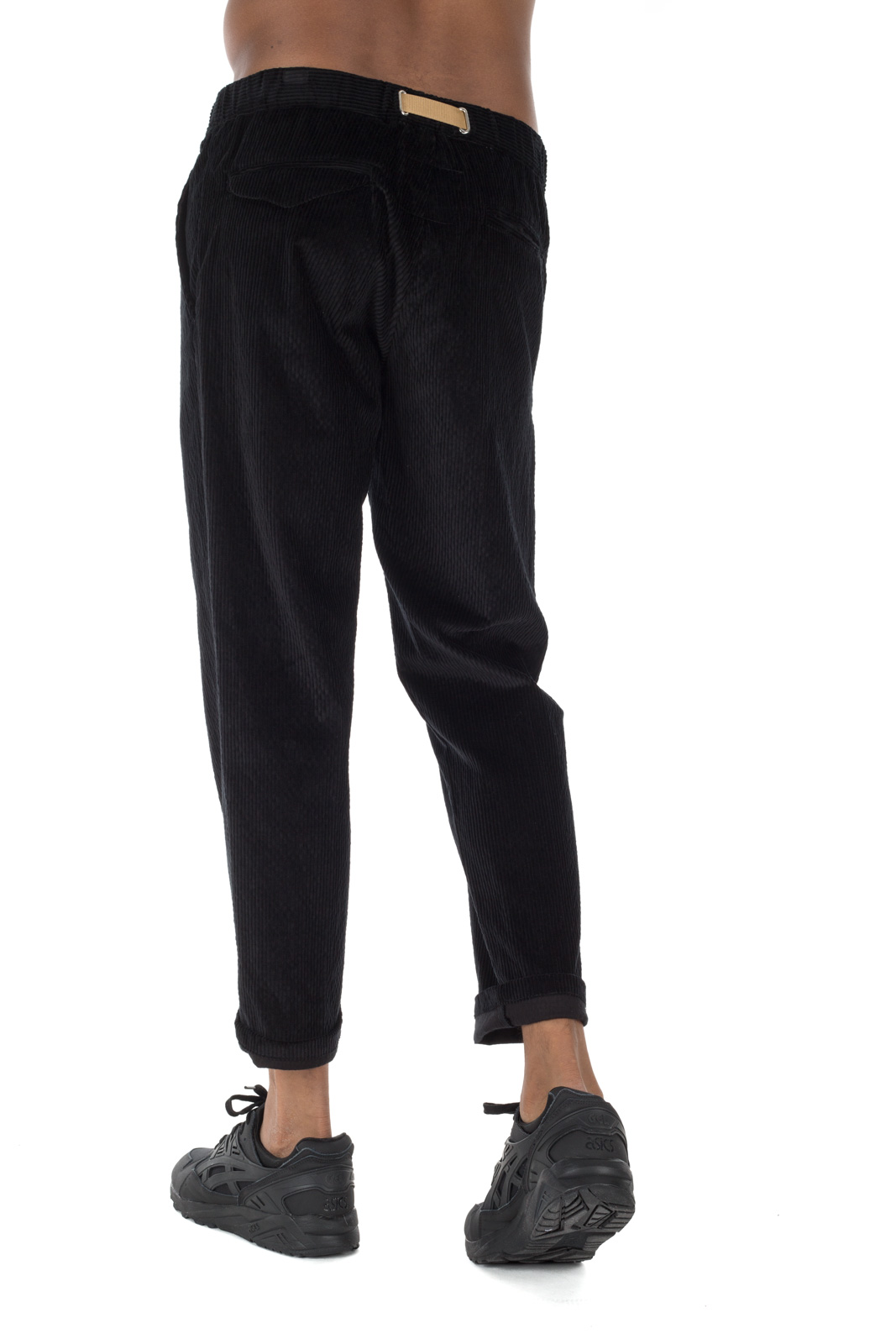 White Sand - Chino Velvet Black Trousers