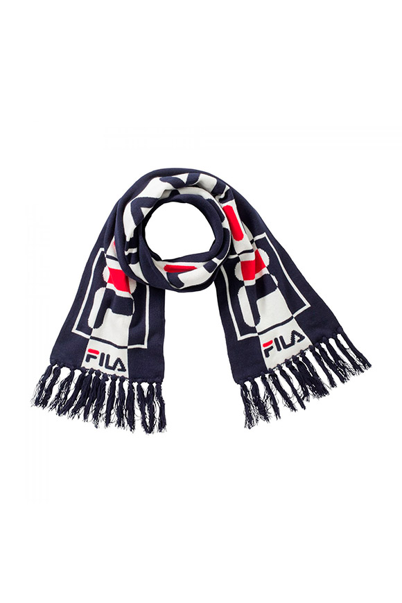 Fila - White and blue scarf with logo