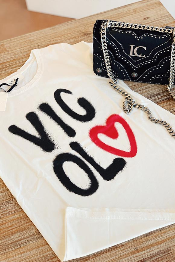 Vicolo - Spray T shirt with heart logo
