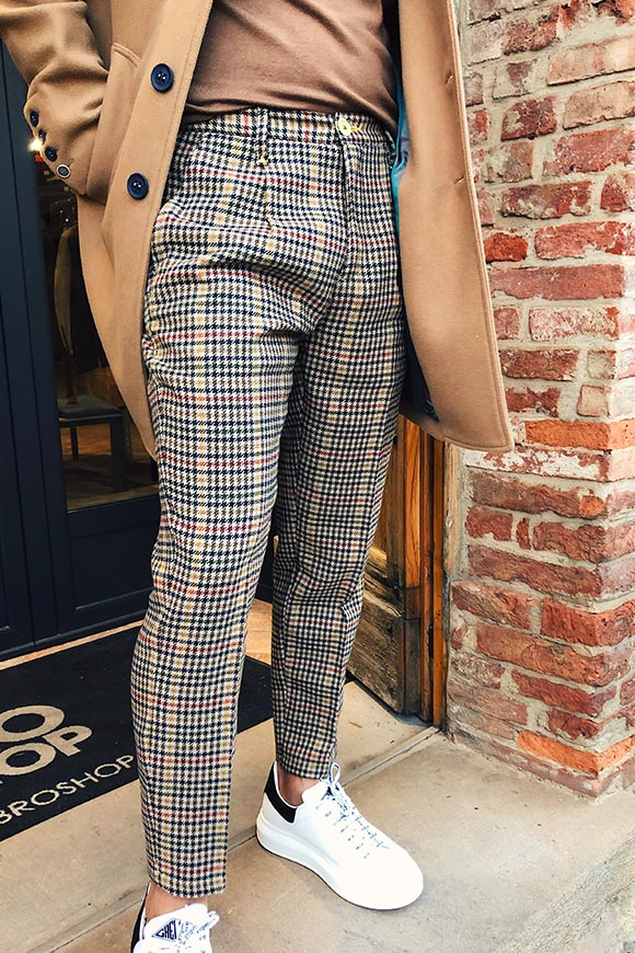 Berna - Patterned camel pants