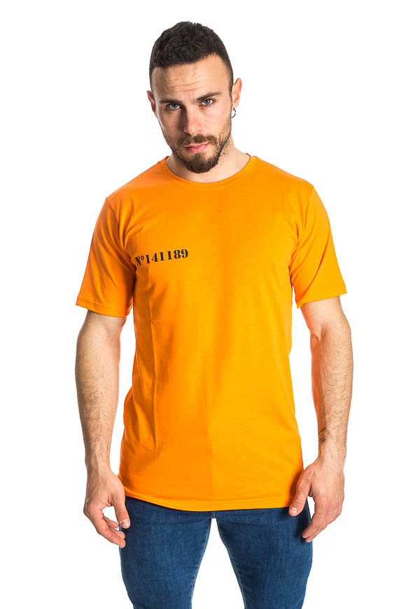 Family First - Family First x Emis Killa T shirt Prisoner Arancio