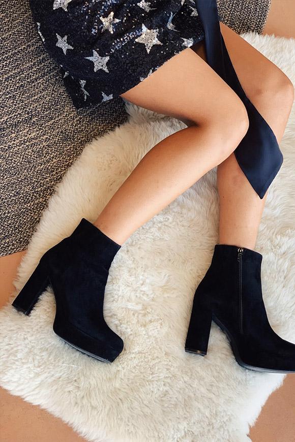 Ovyé Stivali alti texani neri in vera pelle Calibro Shop
