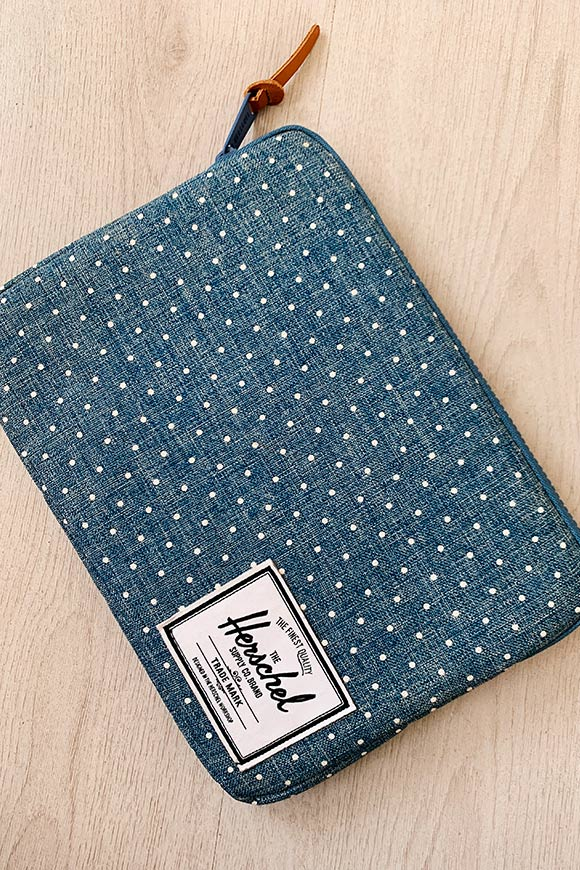 Herschel - Polka dot blue tablet case