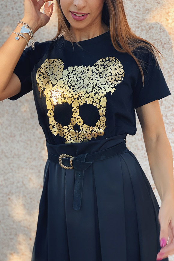 Vicolo - Black gold mouse t shirt