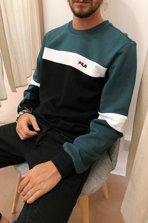 Fila - Vintage sweatshirt with embroidered logo