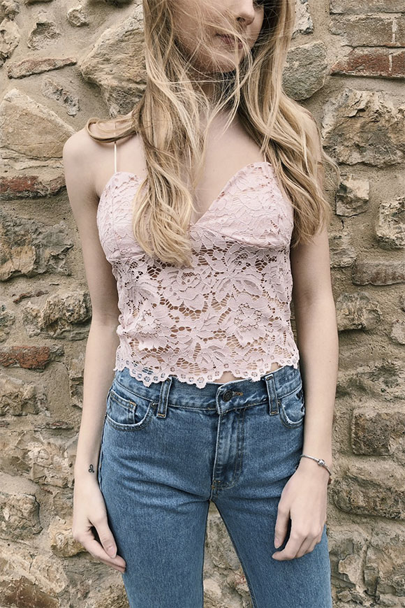 Vicolo - Powder pink lace top