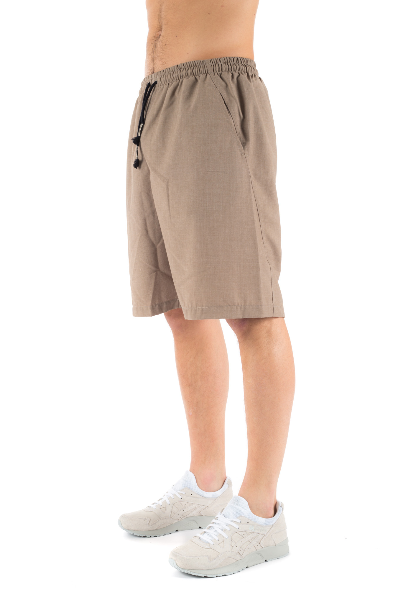 Clap Your Hand - Shorts beige con elastico in vita