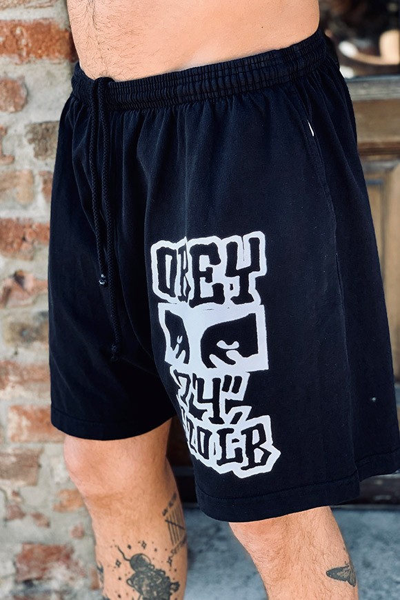Obey - Black shorts with print