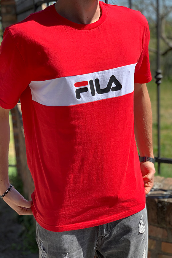 Fila - Red T shirt with logo