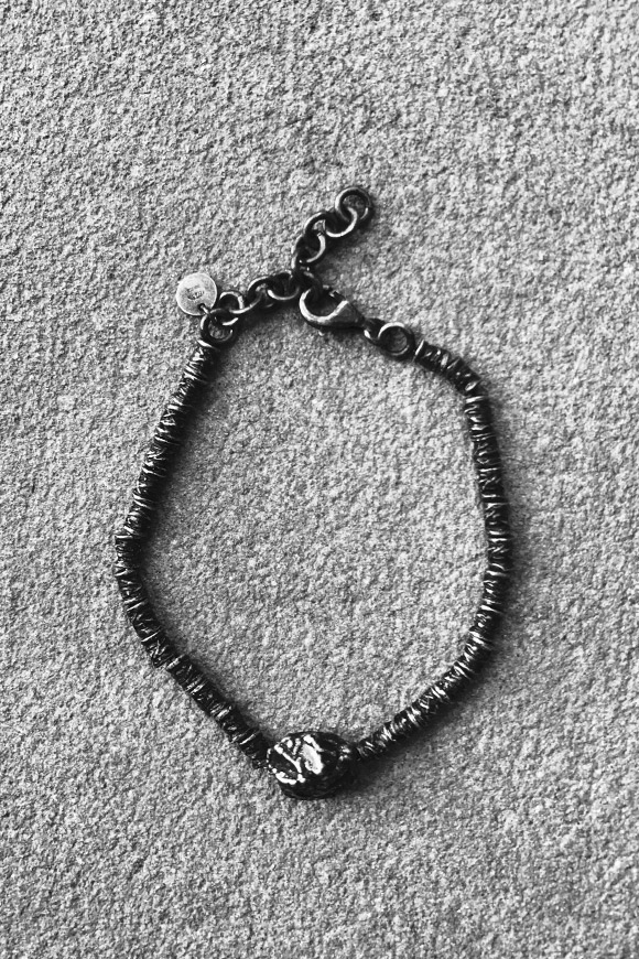 Calibro Shop - Bracelet silver black nugget