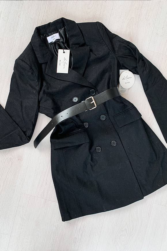 NA-KD - Lack double breasted jacket coat with belt
