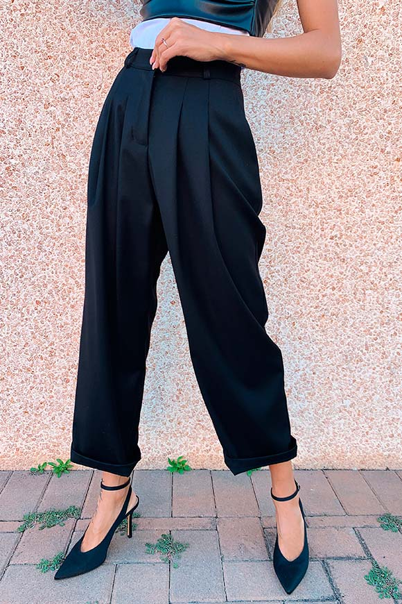 I am - Pantalone nero baggy