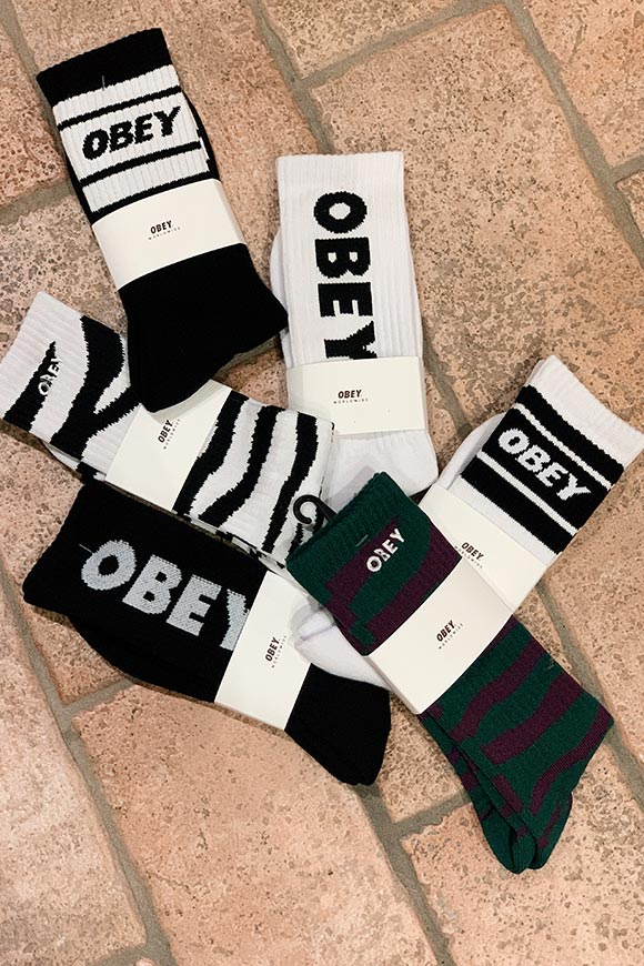 Obey - Calze cooper bianche e nere