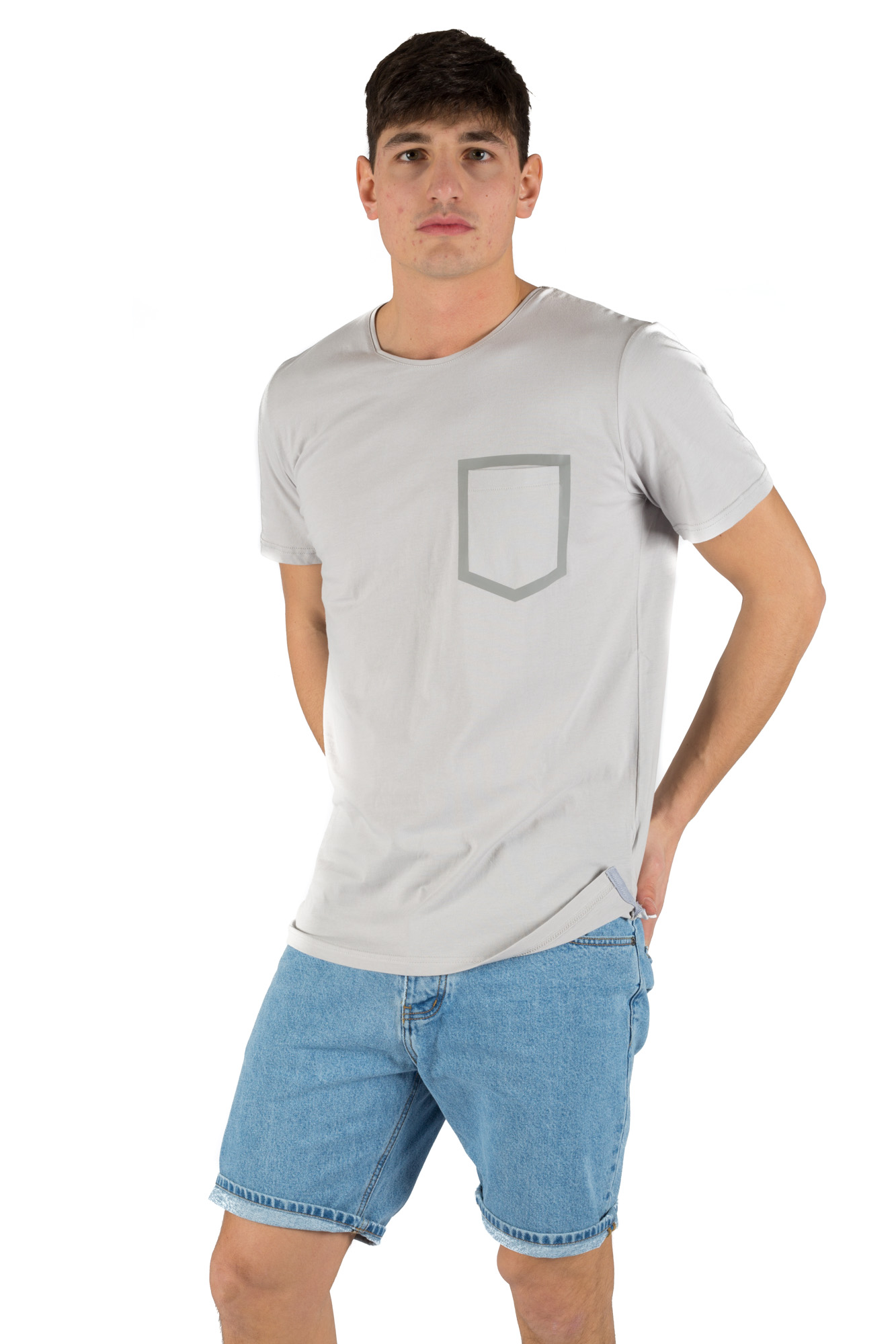 Minimum t shirt with printed pocket calibro shop for T shirt printing stonecrest mall