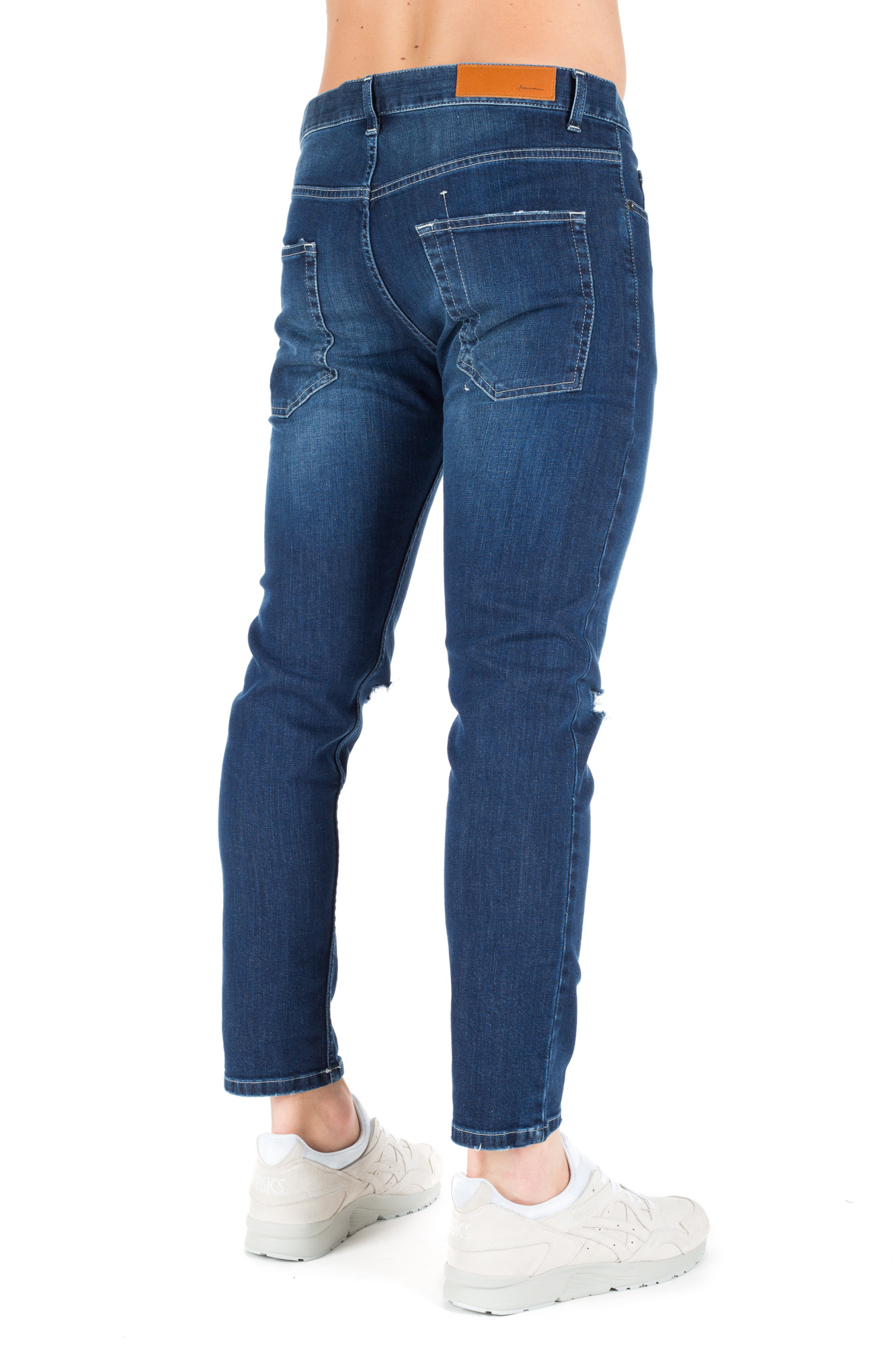 Paura - Stretch Jeans with Ripped Knees