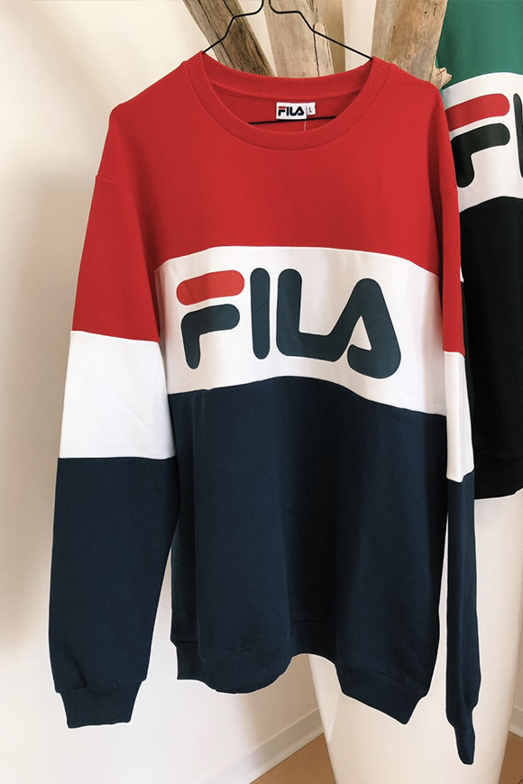 Fila - Unisex blue / white / red block sweatshirt