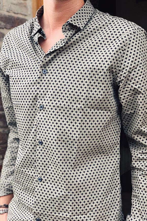 Gianni Lupo - Green micro patterned shirt