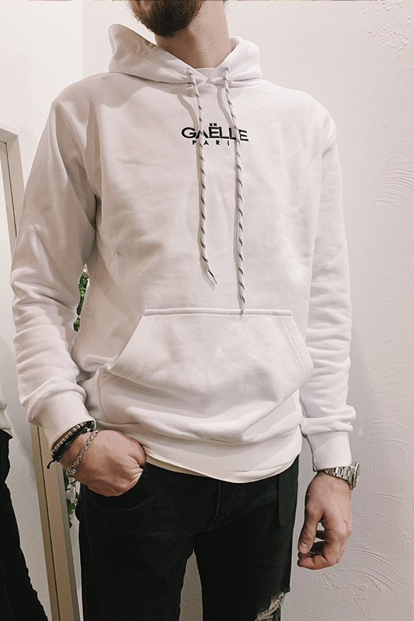 Gaelle - White sweatshirt with hood