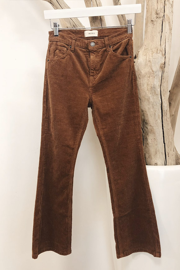 Vicolo - Brown corduroy trousers