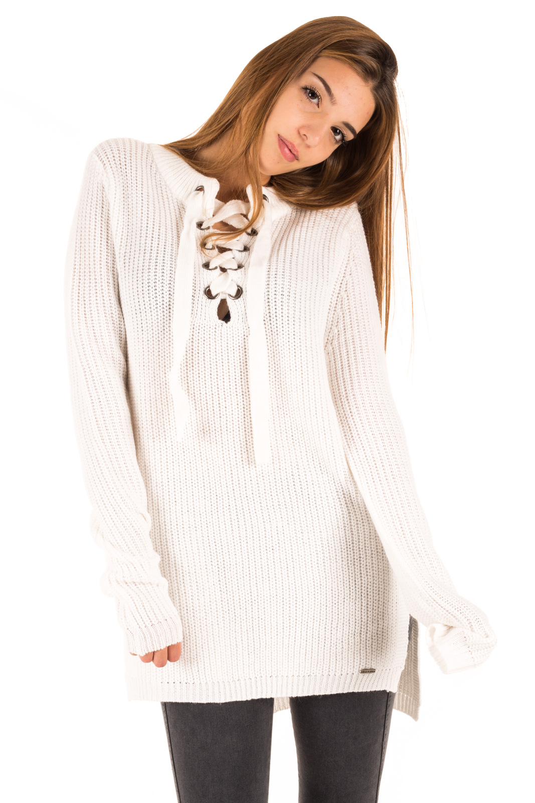 BSB - Sweater with white plaid