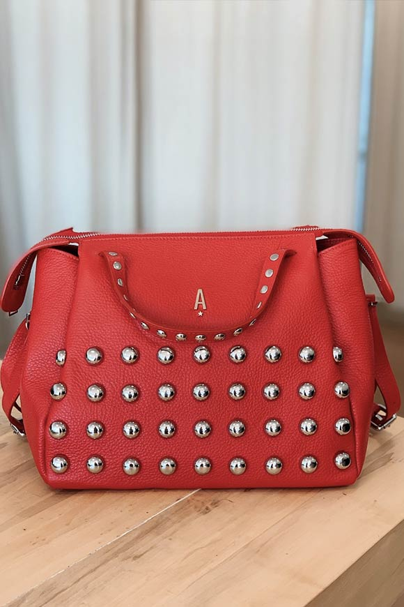 Aniye By - Red Tata bag with studs