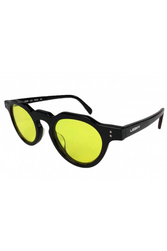 Leziff - California Yellow Black Glasses