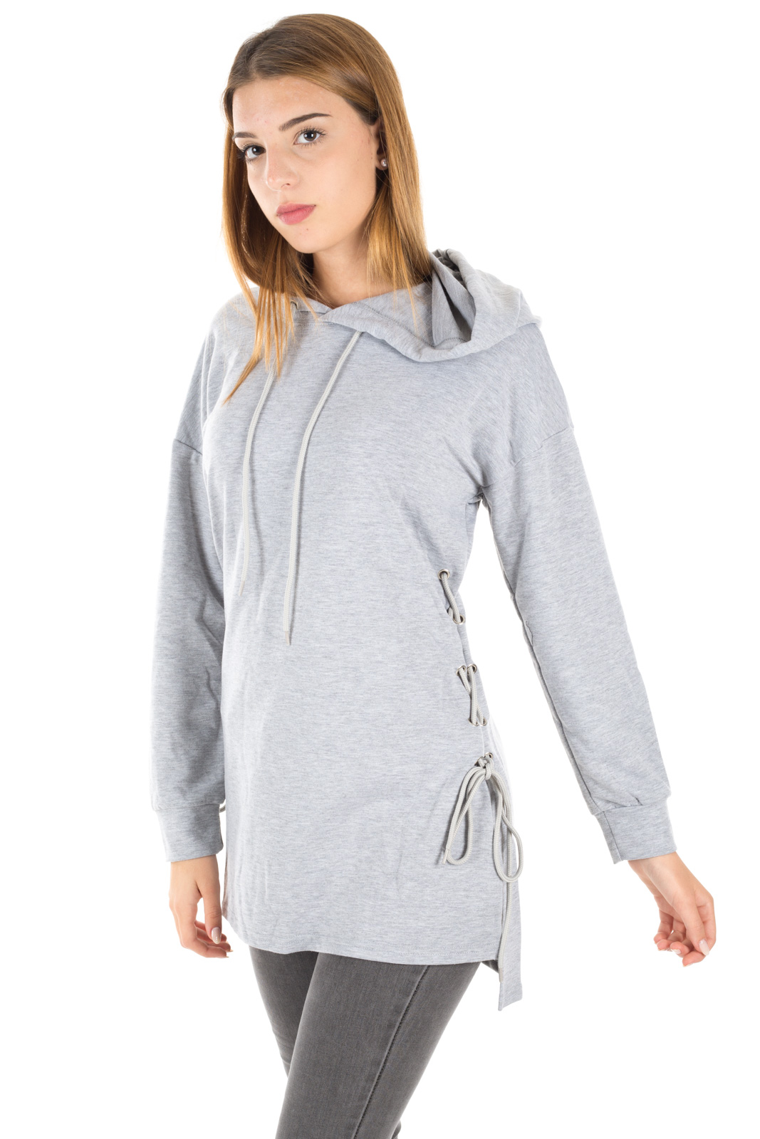Glamorous - Sweatshirt with weaves on the hips