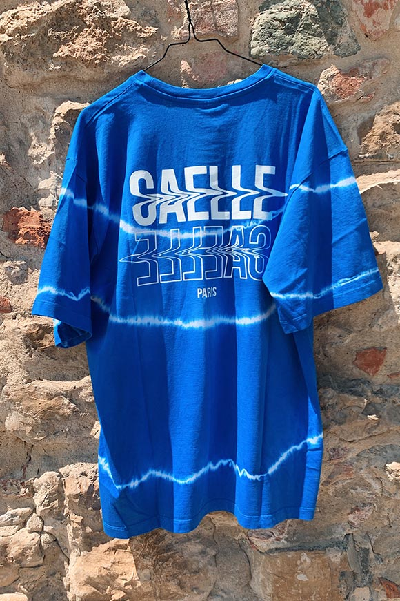 Gaelle - Blue tie dye variegated t shirt