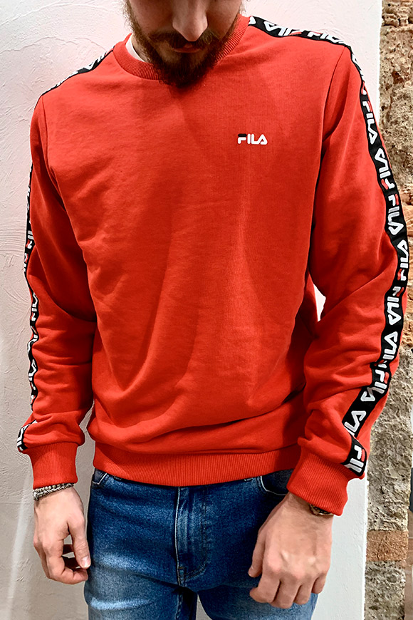 Fila - Red sweatshirt with side bands