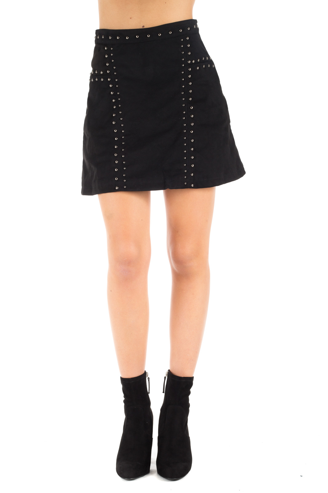 Glamorous - Suit skirt with studs
