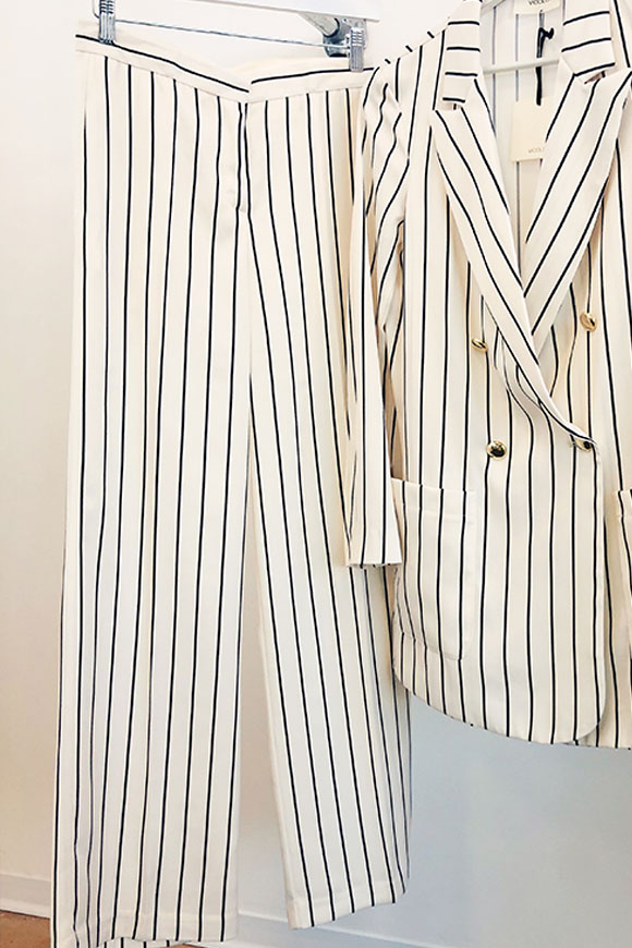 Vicolo - Striped black and white trousers