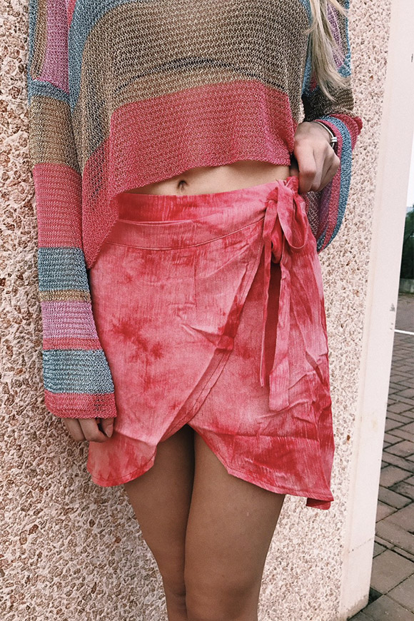 Glamorous - Tie-dye pareo skirt with a wallet